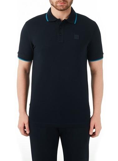 Hugo Boss  Pamuklu Düğmeli Polo T Shirt Erkek Polo 50451167 402 Lacivert